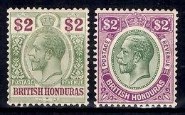 Honduras Britannique YT N° 81 Et N° 100 Neufs *. B/TB. A Saisir! - Brits-Honduras (...-1970)