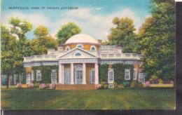 C. Postale - Charlottesville - Monticello - Home Of Thomas Jefferson - Circa 1920 - Non Circulee - A1RR2 - Etats-Unis