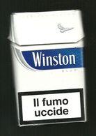 Tabacco Pacchetto Di Sigarette Italia - Winston Blue 3 Da 20 Pezzi - Tobacco-Tabac-Tabak-Tabaco - Etuis à Cigarettes Vides