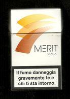 Tabacco Pacchetto Di Sigarette Italia - Merit 3 Da 20 Pezzi - Tobacco-Tabac-Tabak-Tabaco - Etuis à Cigarettes Vides