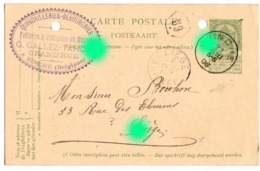 BINCHE Quincaillerie Serrurerie G. GALLEZ TAHON 1906 / RARE - Binche