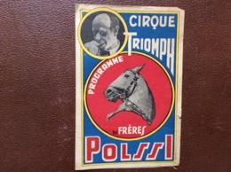 PROGRAMME CIRQUE  CIRQUE TRIOMPH  Des Frères POLSSI - Programmi