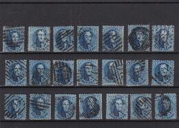 N° 15 : Lot 21 Timbres Oblitérés Dentelures Diverses - 1863-1864 Médaillons (13/16)