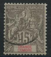 Grande Comore (1900) N 15 (o) - Usati