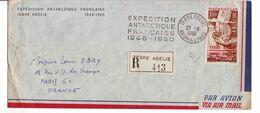6  TO PA 1 Sur Lettre Expédition Antarctique Française 1948.1950 - Poste Aérienne