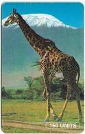Tanzania - TTCL (Chip) - Giraffe, Cn. On Top Left, SC7, 150Units, Used - Tanzania