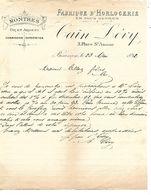 Courrier 1892 / 25 BESANCON / CAIN LEVY / Fabrique D'Horlogerie, Montres - 1800 – 1899