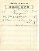 Courrier 1903 Et  Facture 1904 / 25 BESANCON / G COCARD / Fabrique D'Horlogerie - France