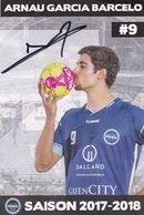 ARNAU GARCIA BARCELO  Joueur Pro De Handball Toulouse Avec Signature - Balonmano