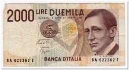 ITALY,2000 LIRE,1990,P.115,VF - 2000 Lire