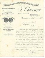 2 Courriers 1903 & Facture 1905 / 25 BESANCON / J THIEVANT / Fabrique Horlogerie, Montres De Poches, Joaillerie - France