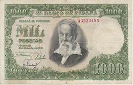 BILLETE DE ESPAÑA DE 1000 PTAS DEL 31/12/1951 SERIE A CALIDAD BC (BANKNOTE) - 1000 Pesetas