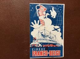 PROGRAMME CIRQUE  Cirque FRANCO-BELGE  Annee 1951 - Programmi