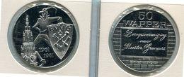 Token - 1981 Antwerpen - 50 Wapper - BVMG  Beroepsvereniging Van Meester Graveurs - Nr 107b - Rhodium - 17 Gram - Tokens Of Communes