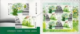 "MOLDOVA/ MOLDAVIA/ MOLDAWIEN- EUROPA 2016 -THÈME ANNUEL ""THINK GREEN"".- BOOKLET With SOUVENIR SHEET - 2016"