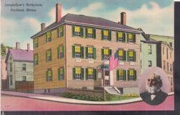 C. Postale - Longfellow's Birthplace - Circa 1920 - Non Circulee - A1RR2 - Portland