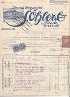 RECHNUNG (datiert 1920) Fa. S.ÖHLER TRIEST, 3 Steuermarken ..., Dok., A3 Format, Gefaltet ... - Österreich