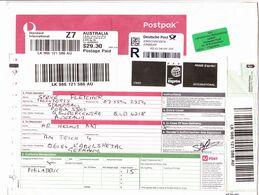 Australien - Austr. Schalterlabel Für Einen Internat. Express Einschreibebrief über 29,30 A$ - Australia