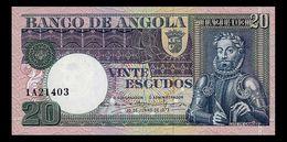 # # # Ältere Seltene Banknote Aus Angola 20 Escudos 1973 UNC # # # - Angola
