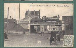 TOURNAI- Viaduc Du Chemin De Fer-porte Du Chateau -train Vapeur Stoomtrein -2 Scans - Tournai