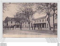 """Cpa   Z0.291 (  Dép 64 )    à    ARTIX      """"""""  L' Ecole Et La Mairie   """"""""   ( 1932 ) - Francia"""