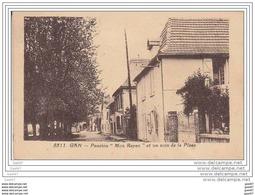 """Cpa  Z0.259 (  Dép 64  )    à   GAN     """"""""    Pension  --  Mon Repos --  Et Un Coin De La Place  """"""""1940 - Altri Comuni"""