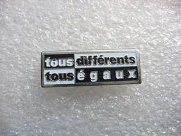 """Pin's """"Tous Différents, Tous égaux"""" - Pins"""