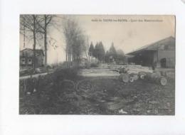 CPA  - Gare De Bains Les Bains - Quai Des Marchandises -( Cachet Au Verso) - Bains Les Bains