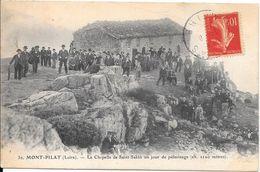 1907 - MONT PILAT - La Chapelle De Saint-Sabin Un Jour De Pèlerinage - Mont Pilat