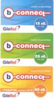 Bulgaria- B-connect By GloBul Set 3 Prepaid Cards ,sample(1234) - Bulgaria