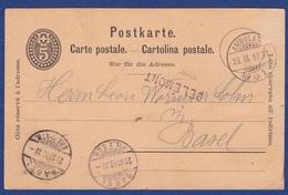 """Bahnpost, Stabstempel """"DELEMONT"""" (aa1639) - Railway"""