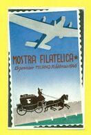 MILANO - MOSTRA FILATELICA II° GUERRA NONDIALE - PIEGHETTA - Guerra 1939-45