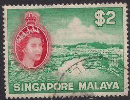 Singapore Malaya 1955 - 59 QE2 $2 Singapore River Used SG 51 ( L1055 ) - Singapore (...-1959)
