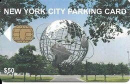 CARTE-PUCE-PARKING NEW YORK-50$-V° Logo Dot Vert-TBE - Parkkarten