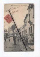 CPA  - Meigneux  -(Somme) - Rue De L'église - France