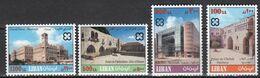 1999 LEBANON Old Buildings Complete Set 4 Values MNH - Libano
