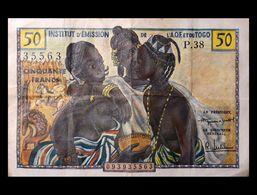 # # # Sehr Seltene Banknote Aus Togo (Togo) 50 Francs # # # - Togo