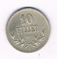 10 FILLER 1916  HONGARIJE /5691/ - Hungría