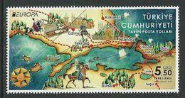 "TURQUIA /TURKEY /TÜRKEI / TURQUIE - EUROPA 2020 -""ANTIGUAS RUTAS POSTALES - ANCIENT POSTAL ROUTES"" - SERIE De 1 V. - N - 2019"