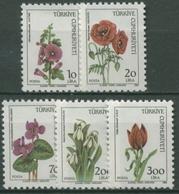 Türkei 1984 Blumen: Eibisch, Mohn, Schneeglöckchen, Tulpe 2682/86 Postfrisch - 1921-... República