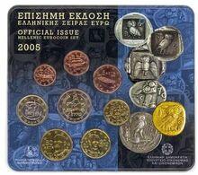 Greece Euro Coins Set 2005 - Grèce