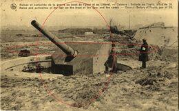 Batterie Tirpitz, Piece De 28 . De Oorlog. Oostende - Ostende (1914-18) War - Guerre - Oostende