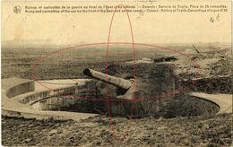 Batterie Tirpitz, Piece De 28 (2). De Oorlog. Oostende - Ostende (1914-18) War - Guerre - Oostende