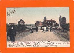 Duinbergen  -  La Station Du Tram  - 2 Scans - Autres