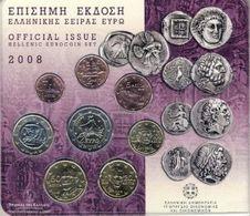 Greece Euro Coins Set 2008 - Grèce