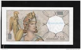 BILLET ECHANTILLON FILIGRANE ATHENA N°1250  Banque De France - Frankrijk