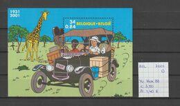 België 2001 - Yv. Blok 88 - OCB Blok 93 Gest./obl./used - Blocks & Sheetlets 1962-....