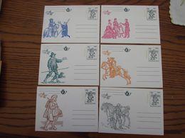 Belgique: Cartes Postales Spéciales Neuves C.O.B. N° 28 à 33. Cote 75,00 - Stamped Stationery