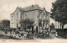 Libin  Ecole Communale Des Garçons Et La Gendarmerie Animée Circulé En 1909* - Libin