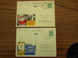 """2 Cartes """"Publibel"""" Oblitérées Par Les HALTES De Facteur De GEEL 6 Et 7 En 1973 - Stamped Stationery"""